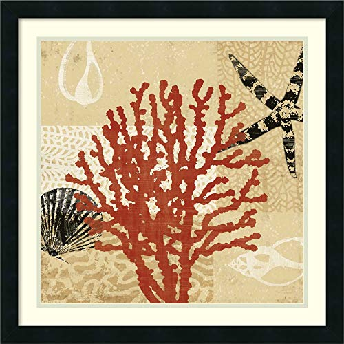 (Framed Wall Art Print Coral Impressions III by Tandi Venter 26.25 x 26.25)