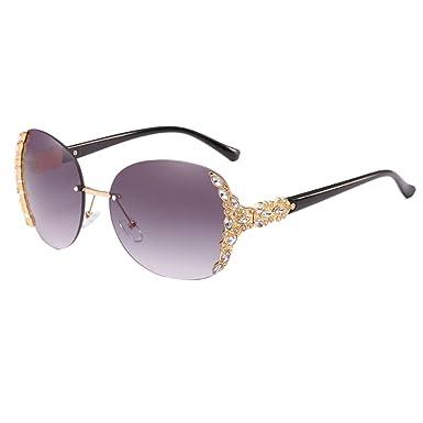 Zhhlaixing Femmes de Qualité Armature en Métal UV400 Protection Lunettes de Soleil Gradient Couleur Extérieure Lunettes Sunglasses fz28vJfzf8