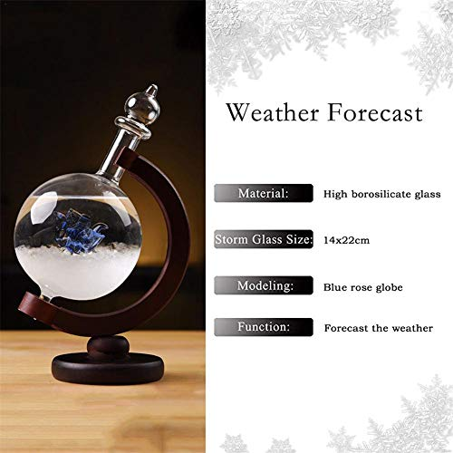 Barometer Water Blue - Greatpassion Fashion Colorful Storm Glass Weather Stations Water Drop Weather Predictor Creative Forecast Nordic Style Decorative Weather Glass