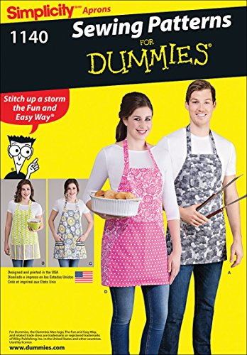 Simplicity Patterns 1140 Aprons in Four Styles, ONE Size