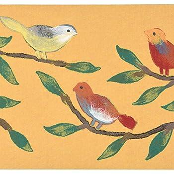 Liora Manne Illusions III Singing Birds Rug, Yellow