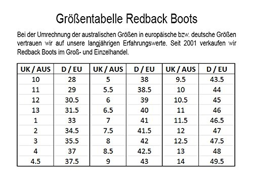 Unisex Boots aus Jarrah Work UBJK brown Jarrah Australien Redback Brown fqtExXP5n