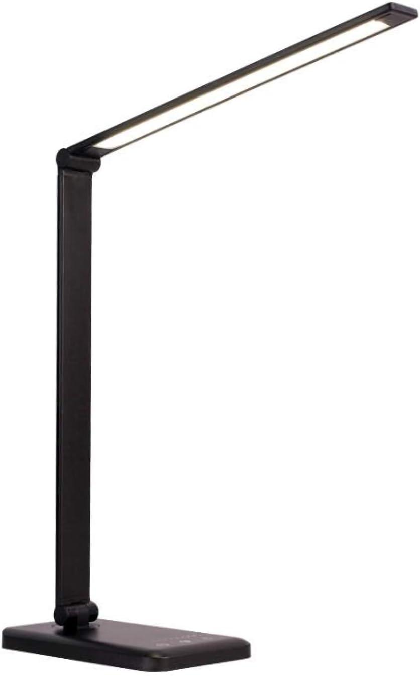 5 modalit/à di temperatura del colore oscuramento controllo tattile e funzione autoscatto Lampada da scrivania a LED HOXIYA con ricarica wireless e USB