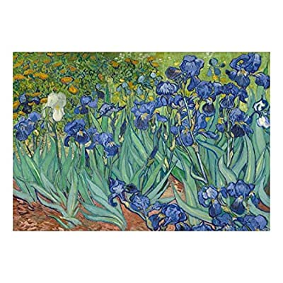 Wall26 - Irises by Vincent Van Gogh - Dutch Impressionism - 20th Century Artist - Peel and Stick Large Wall Mural, Removable Wallpaper, Home Decor - 66x96 inches