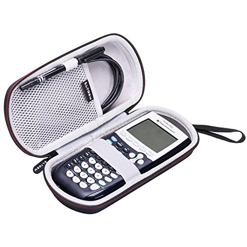 LTGEM Case for Texas Instruments TI-84, 89/83 / Plus/CE Graphics Calculator-Includes Mesh Pocket.(Hard and Black) (Programming The Ti 83 Plus Ti 84 Plus)