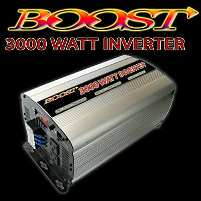 Boost 3000 W Continuous 6000 watt Peak 12v Dc to 120v Ac Car Truck Automotive Power Inverter: Car Electronics