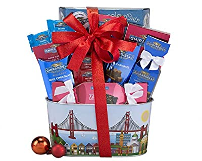 Wine Country Gift Baskets Christmas Ghirardelli Milk and Dark Chocolate Gift Basket, Holiday Gift Basket, Christmas Gift Basket, Family Gift Basket, Corporate Gift Basket, Birthday Gift