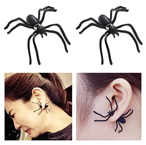 Halloween Costumes Decorations Spider Earrings Studs Scary