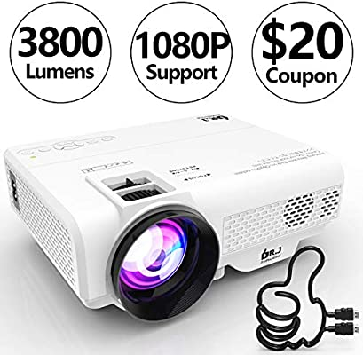 DR.J 2600Lux Home Theater Mini Projector Max. 170