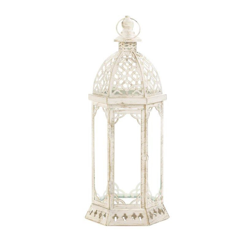 Lantern Candle Holder, Graceful Distressed Small Christmas Glass Candle Lantern (Sold by Case, Pack of 6)