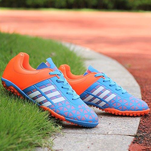 Xing Lin Botas De Fútbol Estudiante Antideslizante De Chicos Y Chicas Rotas Uñas Zapatos De Fútbol blue