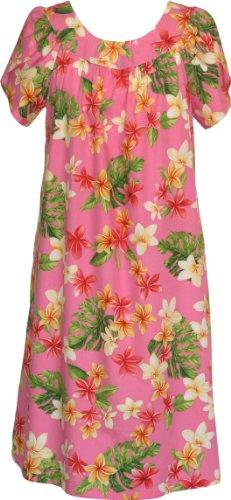 RJC Women's Yellow Plumeria Muumuu Dress, Pink, ()