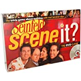 Seinfeld Scene It? The DVD Game with 1 DVD, 1 Game Board, 4 Movers, 144 Trivia Cards, 10 Buzz Cards, 4 Reference Cards, 1 Six-Sided Numbered Dice, 1 Eight-Sided Category Dice and Instruction Sheet
