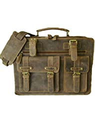 ECOCRAFTWORLD 16 inch Leather Messenger Laptop Bag Vintage Briefcase Shoulder Satchel for Men, 'courier bag ipad...