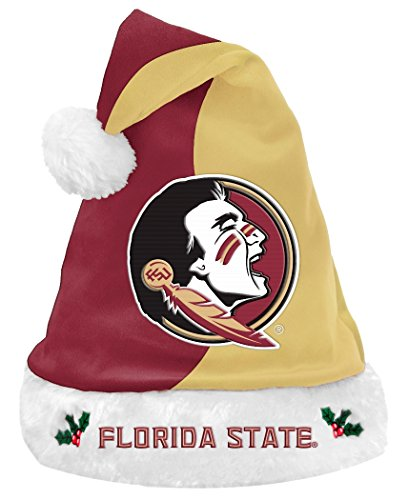 Florida State Seminoles 2017 NCAA Basic Logo Plush Christmas Santa Hat (Hat Plush State)