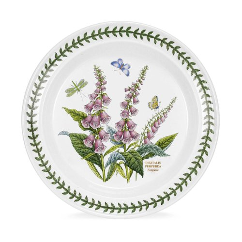 Portmeirion Botanic Garden Digitalis Purpurea Foxglove 10-in Dinner Plate