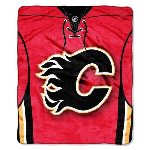 NHL Calgary Flames Jersey Raschel Throw, 50 x 60-Inch - Calgary Flames Hockey Jersey