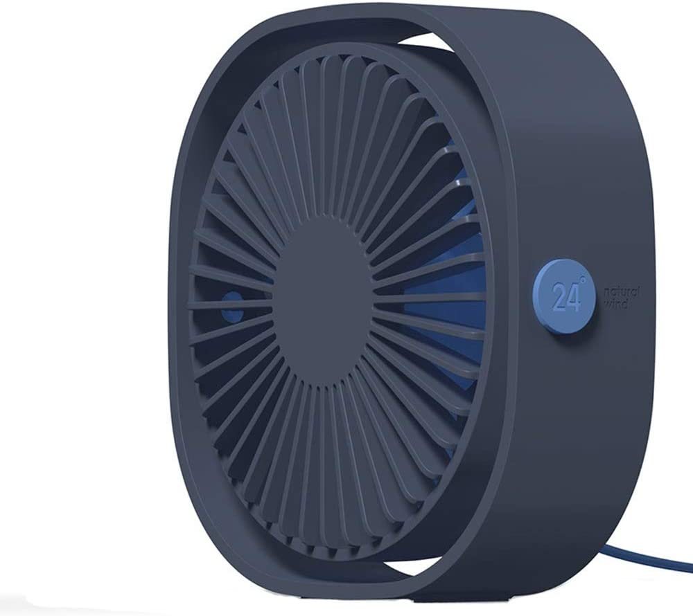 Color : Blue, Size : One-Size USB Table Desk Personal Fan Small Fan 3 Speed Personal Desk Portable Mini Table Fans with USB Powered Quiet Fan for Home Office Outdoor Travel for Home Office Table