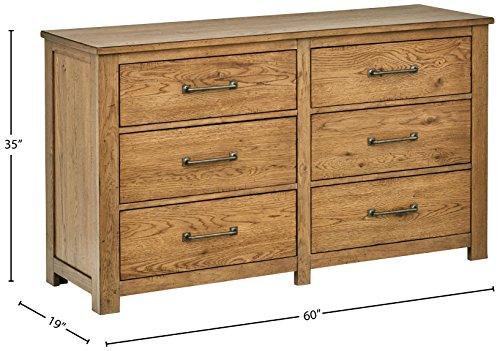 "Amazon Brand – Stone & Beam Parson 6-Drawer Wood Bedroom Dresser, 60""W, Natural"