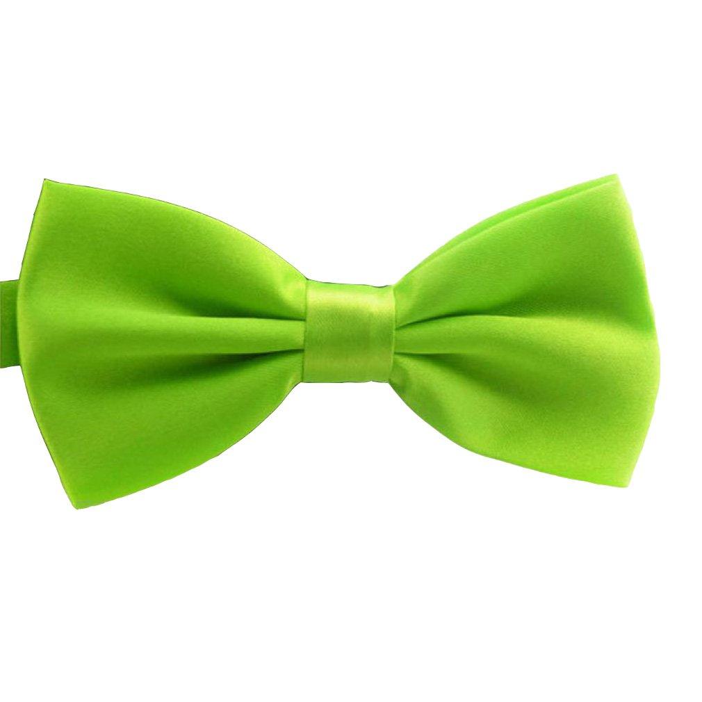 Morrivoe Mens Pre Tied Bow Tie Party Banquet Bowtie Solid Color Adjustable Necktie Wedding Accessories Variety Colors Available