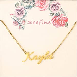 FANXI Custom Name Necklace for Women – Any Personalized…