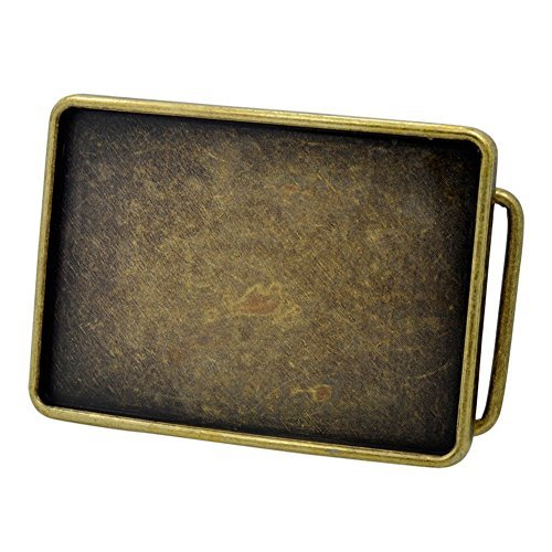 Buckle Rage Rectangle Blank Belt Buckle Large Bronze (Rectangle Belt Buckle)