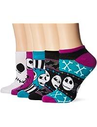 Women's Nightmare Before Christmas 5 Pack No Show Socks