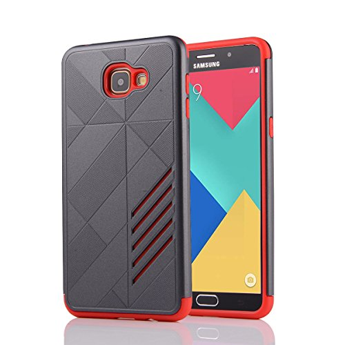 Slim Fit Hybrid Shockproof Case for Samsung Galaxy A9 (Grey/Red) - 1
