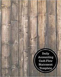amazon com daily accounting cash flow statement template daily