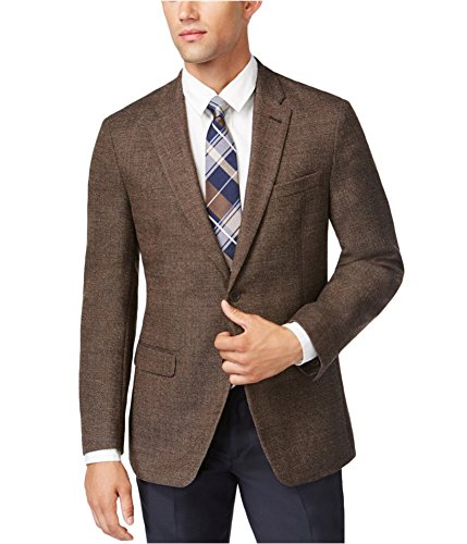 Tommy Hilfiger Mens Neat Soft Two Button Blazer Jacket bray 36 by Tommy Hilfiger