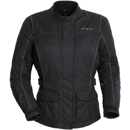 2012 Textile Jacket (Tour Master Motive Women's Textile Cruiser Motorcycle Jacket - Black/Black / Small)