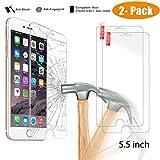 iPhone 7 Plus Screen Protector, [2-PACK] NeWisdom Premium...