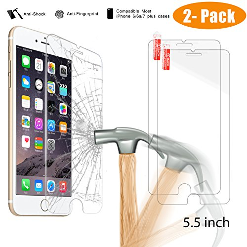 iphone-7-plus-screen-protector-2-pack-newisdom-premium-hd-anti-fingerprintanti-shockballistics-tempe