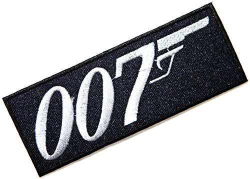 007 James Bond Moive Logo Kid Baby Jacket T Shirt Patch Sew Iron on Embroidered Symbol Badge Cloth Sign Costume By Prinya Shop
