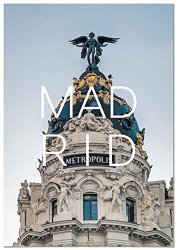 Panorama Lienzo Ciudad de Madrid 70 x 100 cm - Impreso en Lienzo Bastidor - Cuadros Decoracion Salon - Cuadros para Dormitorio - Cuadros Lienzos Decorativos - Cuadros Modernos