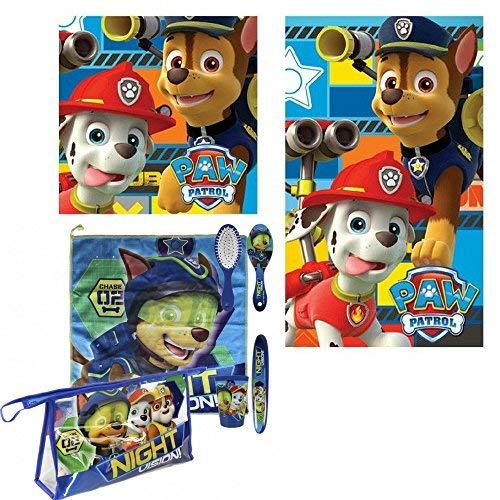 Patrulla Canina Set neceser de aseo comedor de la Patrulla Canina para niño + juego de toallas de manos de regalo: Amazon.es: Equipaje
