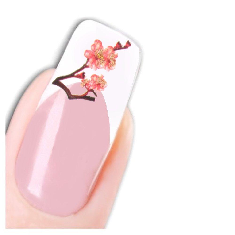 JUSTFOX - Nail arte del tatuaje de flores de cerezo pegatinas ...