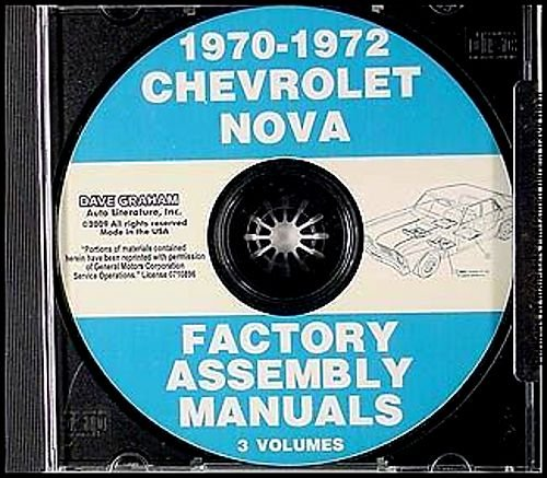Read Online COMPLETE & UNABRIDGED 1970 1971 1972 CHEVY II & NOVA FACTORY ASSEMBLY INSTRUCTION MANUAL CD IN 5 VOLUMES - INCLUDES 4 cylinder or 6 cylinder engine, including Base Models to Fully-Loaded models, Nova, Super Sport SS. 70 71 72 - CHEVROLET pdf