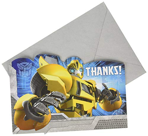 Transformers Thank You Postcards, Party - Transformers Card Birthday