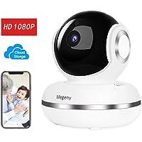 Megeny Telecamera Sorveglianza WiFi 1080P IP Camera Videocamera IP Interno con Visione Notturna,Rilevamento Umano,Archiviazione Cloud,allarme video,Audio Bidirezionale,per Baby/Elder/Pet Monitor