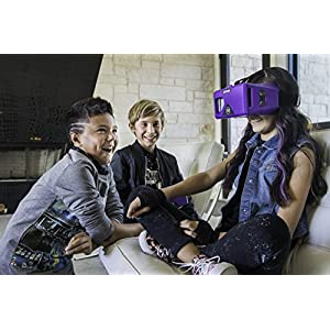 Merge VR Headset – Augmented Reality and Virtual Reality Headset, Play Educational Games and watch 360 Degree Videos, STEM Tool for Classroom and Home, Works with iPhone and Android (Pulsar Purple)