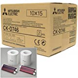 Mitsubishi Two 6'' Wide Paper Rolls and Inksheet for 800 Photos, Size: 4x6'', 2-Roll Box CP Series Thermal Printers