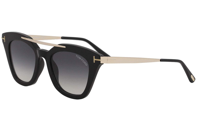 83ad61dbf321f Tom Ford Sunglasses 0575 Anna 01B Shiny Black Grey Gradient  Tom Ford   Amazon.ca  Luggage   Bags