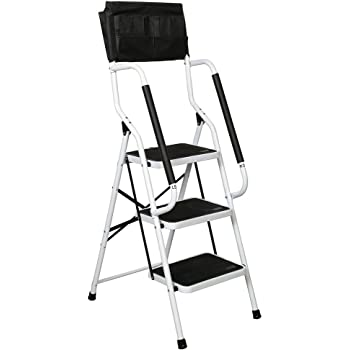 Support Plus Folding 3 Step Safety Step Ladder Padded