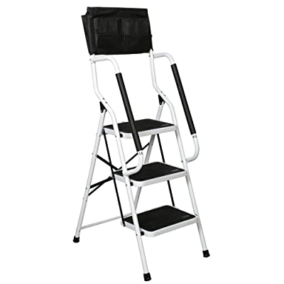 SUPPORT PLUS Folding 3-Step Safety Step Ladder