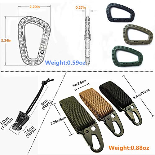 570bc2c91899 Jual 11 Pcs Tactical Attachments for 1 EDC Molle Webbing Keychain ...