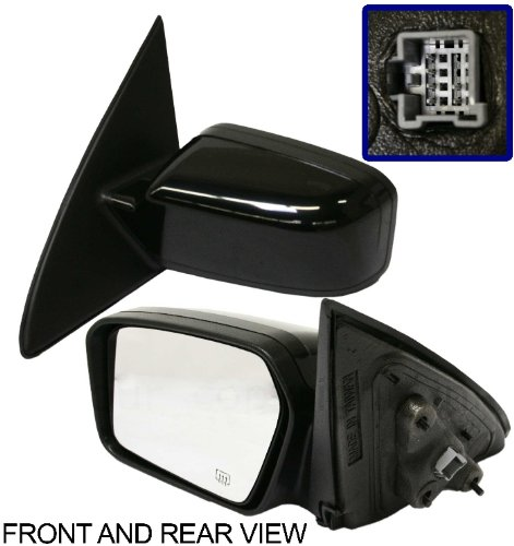 FUSION 06-11 SIDE MIRROR LEFT DRIVER, Power, Puddle Lamp, 2 Caps Driver Side 2 Lamp