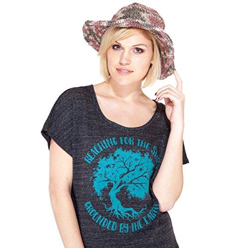 Tie Dye Hemp & Cotton Wide Brim Beach Sun summer music festival Hat-sage/maroon-one Size
