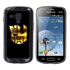 Be Good Phone Accessory // Dura Cáscara cubierta Protectora Caso Carcasa Funda de Protección para Samsung Galaxy S Duos S7562 // Mech Formers Robots