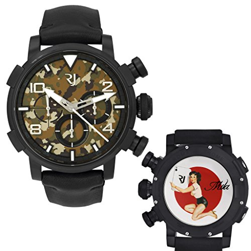 Romain Jerome Pinup DNA WWII Mila Card Chrono Auto Men Watch RJ.P.CH.002.01